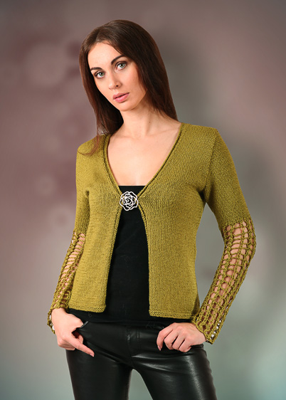 cardigan with lace sleeves knitting pattern