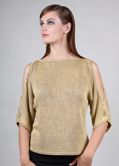 pullover with overlap sleeves knitting pattern