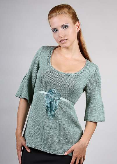 top with pleats knitting pattern