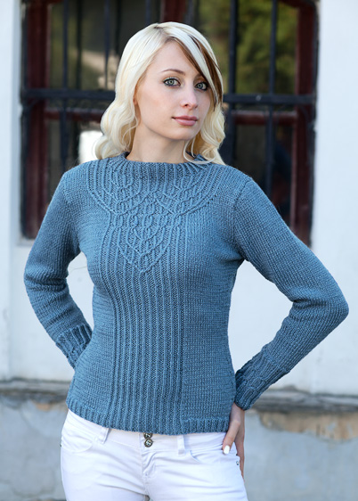 pullover with interlocking cables knitting pattern