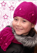 girl's hat and scarf knitting pattern
