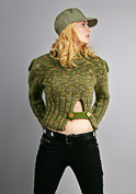 pullover with rib opening knitting pattern